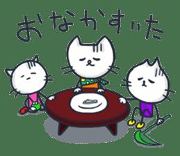 SECHIGARA-Three brothers cat sticker sticker #1169660