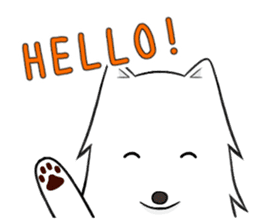 white pomeranian and puppies sticker #1175346