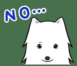 white pomeranian and puppies sticker #1175352