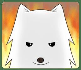 white pomeranian and puppies sticker #1175360