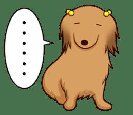 white pomeranian and puppies sticker #1175362