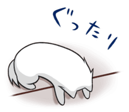 white pomeranian and puppies sticker #1175366
