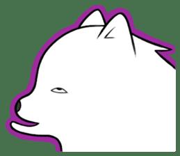 white pomeranian and puppies sticker #1175368