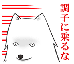 white pomeranian and puppies sticker #1175369