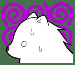 white pomeranian and puppies sticker #1175370