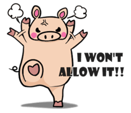 The everyday life of Pigtum sticker #1180467