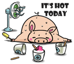 The everyday life of Pigtum sticker #1180474