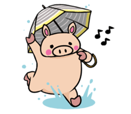 The everyday life of Pigtum sticker #1180476