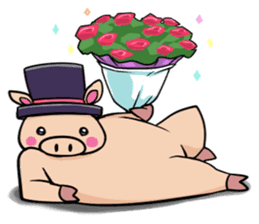 The everyday life of Pigtum sticker #1180479