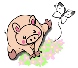 The everyday life of Pigtum sticker #1180483