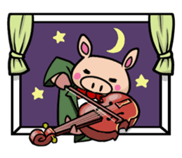 The everyday life of Pigtum sticker #1180504