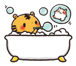 Cute Friends! Hamster and Tiger sticker #1182152