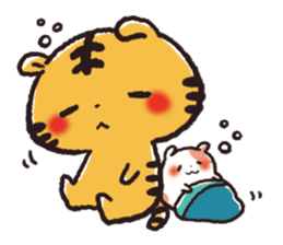 Cute Friends! Hamster and Tiger sticker #1182157