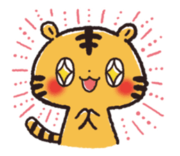 Cute Friends! Hamster and Tiger sticker #1182182