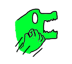 Dog? Crocodile? hmm STICKER sticker #1182522