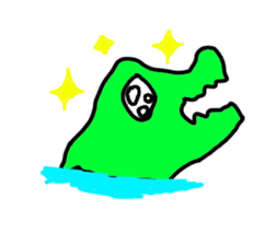 Dog? Crocodile? hmm STICKER sticker #1182544