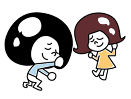 helmet boy&girl sticker #1182902