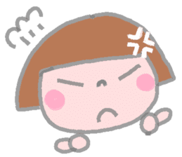 Japanese girl coto-chan 40faces sticker #1183194