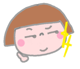 Japanese girl coto-chan 40faces sticker #1183204