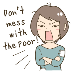 Powerful poor girl (English)