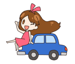 HUWA Girl sticker #1184493