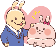 Women force rabbit sticker #1184844