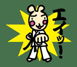 usainu (rabbit dog) : KARATE LOVE sticker #1185227
