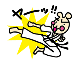usainu (rabbit dog) : KARATE LOVE sticker #1185231