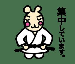 usainu (rabbit dog) : KARATE LOVE sticker #1185232