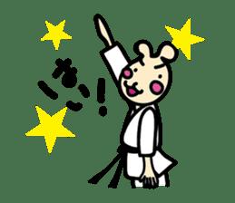 usainu (rabbit dog) : KARATE LOVE sticker #1185239