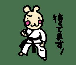 usainu (rabbit dog) : KARATE LOVE sticker #1185246