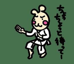usainu (rabbit dog) : KARATE LOVE sticker #1185248