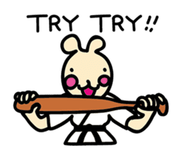 usainu (rabbit dog) : KARATE LOVE sticker #1185251