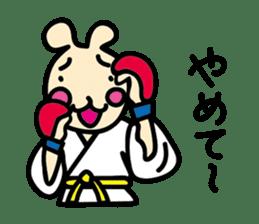 usainu (rabbit dog) : KARATE LOVE sticker #1185253