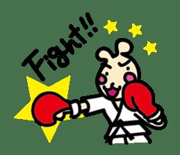 usainu (rabbit dog) : KARATE LOVE sticker #1185256