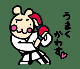 usainu (rabbit dog) : KARATE LOVE sticker #1185259