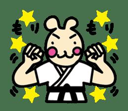 usainu (rabbit dog) : KARATE LOVE sticker #1185264