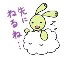 a stuffed rabbit sticker #1185436