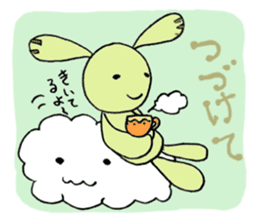 a stuffed rabbit sticker #1185438