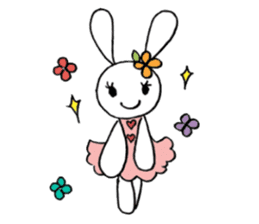 a stuffed rabbit sticker #1185439