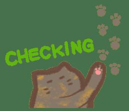 Cat weather sticker #1188156