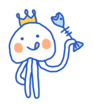 King of the jellyfish sticker #1188683