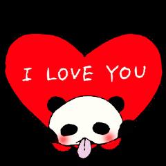 Tongue panda of love dependent.