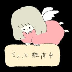 sticker in crayon
