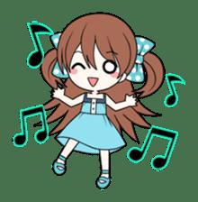 Cheerful moe girl, Meitan! sticker #1190673