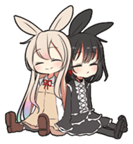 Rainbow & Monochrome Rabbit sticker #1196467
