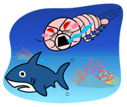 Friends and deep-sea fish sticker #1197803