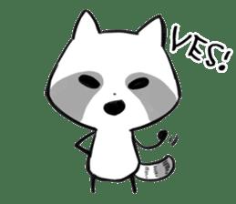 raccoon sticker #1199620
