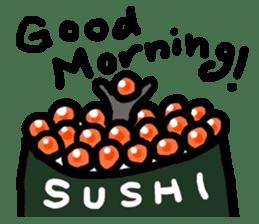 Salmon caviar man sticker #1200719