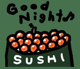 Salmon caviar man sticker #1200720
